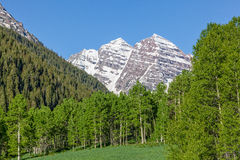 Maroon Bells Summer Scenic Royalty Free Stock Images