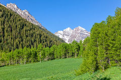 Maroon Bells in Summer Stock Photos