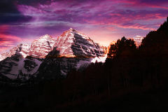 Maroon Bells Sunrise. At dawn Royalty Free Stock Images