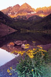 Maroon Bells - sunrise Stock Photo