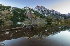 Maroon Bells Sunrise Aspen Colorado Stock Image