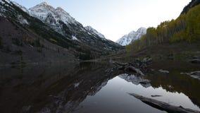 Maroon Bells Sunrise Aspen Colorado stock footage