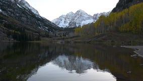 Maroon Bells Sunrise Aspen Colorado stock video footage