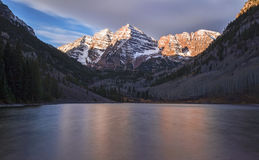 Maroon Bells at sunrise Royalty Free Stock Image