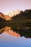 Maroon Bells - sunrise in the mountains Stock Images