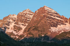 Maroon Bells at Sunrise Stock Image