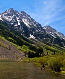 Maroon Bells view Stock Image