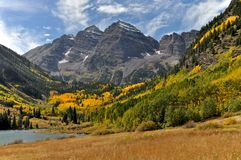 Maroon Bells Vista Royalty Free Stock Photos