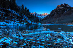 Maroon Bells in White River National Forest, Colorado Royalty Free Stock Photography