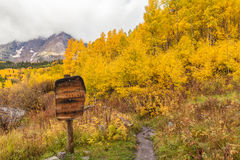 Maroon Bells Wilderness in Autumn Royalty Free Stock Image