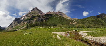 Maroon Bells Wilderness in Colorado Royalty Free Stock Image