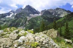 Maroon Bells wilderness in Colorado Stock Photography
