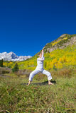 Maroon Bells Yoga Pose Royalty Free Stock Photography