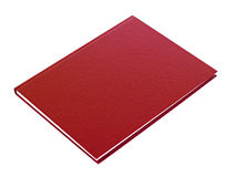 Maroon book lying isolated Stock Photos