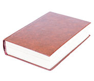Maroon book lying isolated Stock Photography