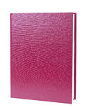 Maroon book standing isolated Stock Image