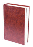 Maroon book standing isolated Stock Photography