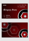 Maroon Business Card Design Template Stock Photos