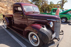 Maroon 1954 Chevrolet Truck Royalty Free Stock Images