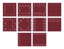 Maroon color vector templates with floral patterns. Various maroon color vector templates with floral patterns Royalty Free Stock Image
