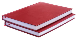 Maroon colored thesis papers Stock Photos