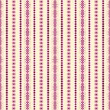 Maroon and Creme Damask Seamless Pattern Stock Images