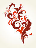 Maroon curve filigree pattern Stock Images