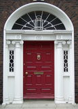 Maroon Dublin Door royalty free stock photos