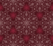 Maroon Floral Seamless Wallpaper Pattern Stock Photography