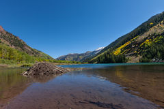 Maroon Lake Aspen Colorado in Fall Stock Photos