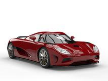 Maroon modern concept sports car Stock Photos
