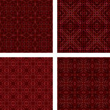 Maroon mosaic background set. Maroon seamless mosaic background set Stock Image
