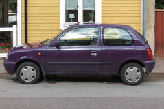 Maroon Nissan Micra Royalty Free Stock Image