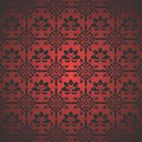 Maroon Pattern Wallpaper Stock Image