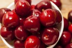 Maroon ripe cherries Stock Image