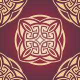 Maroon seamless damask pattern Royalty Free Stock Photo