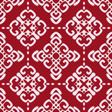 Maroon seamless damask pattern Royalty Free Stock Images