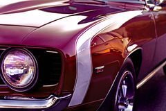 A maroon vintage muscle Cheverlot Camaro Royalty Free Stock Photo