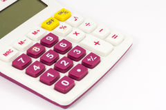 Maroon And White Calculator Stock Images