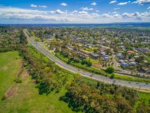 Maroondah Highway and suburban area in Melbourne. royalty free stock photos
