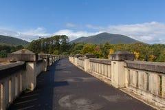 Maroondah Reservoir dam wall. Victoria, Australia Royalty Free Stock Image