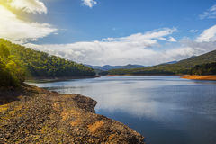 Maroondah Reservoir Lake at sunset Stock Photos