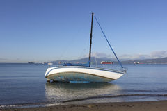 A Marooned Sailboat Stock Photos