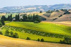 Marços (Italia), paisagem Foto de Stock Royalty Free
