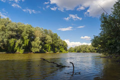 Maros River in Hungary Stock Images