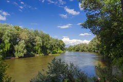 Maros River in Hungary Royalty Free Stock Photos