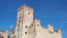 Marostica, Виченца, Италия Замок на нижней части городка стоковая фотография rf