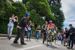 Marostica, Italia 24 maggio 2015; Alberto Contador before a hard stage of the Tour of Italy 2015. Royalty Free Stock Photos
