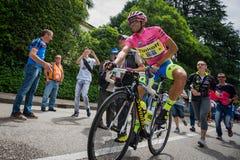 Marostica, Italia 24 maggio 2015; Alberto Contador przed ciężką sceną wycieczka turysyczna Włochy 2015 Zdjęcie Stock