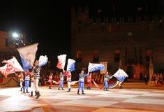Marostica, VI, Ιταλία - 9 Σεπτεμβρίου 2016: φορείς σημαιών κατά τη διάρκεια του Νι Στοκ φωτογραφίες με δικαίωμα ελεύθερης χρήσης